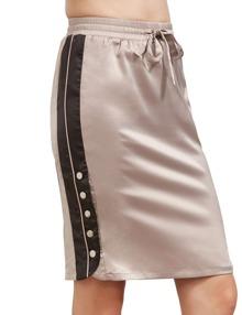 Falda avec boutons latéraux avec cordon - rose