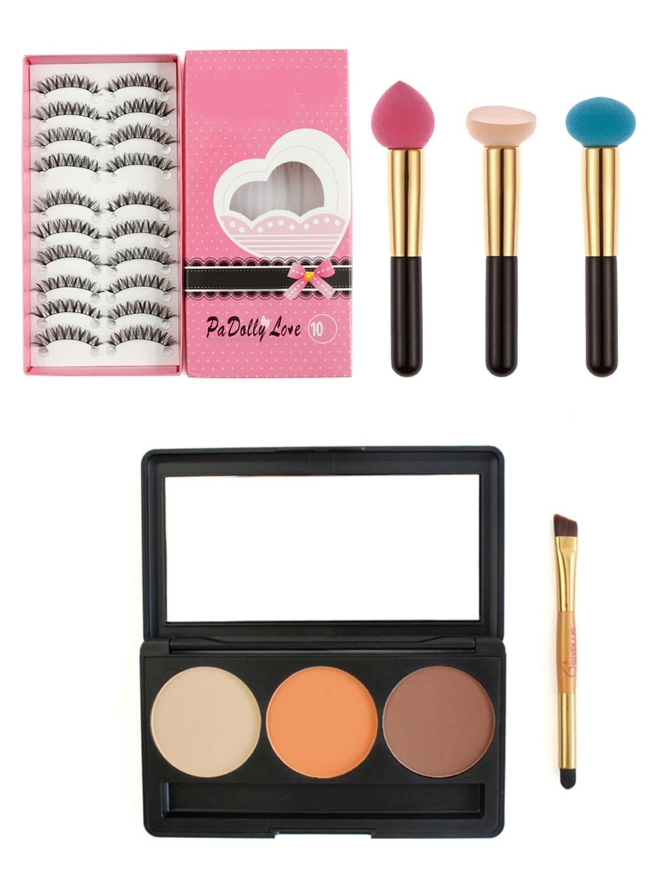 Фото Makeup Tool Set With False Eyelashes. Купить с доставкой
