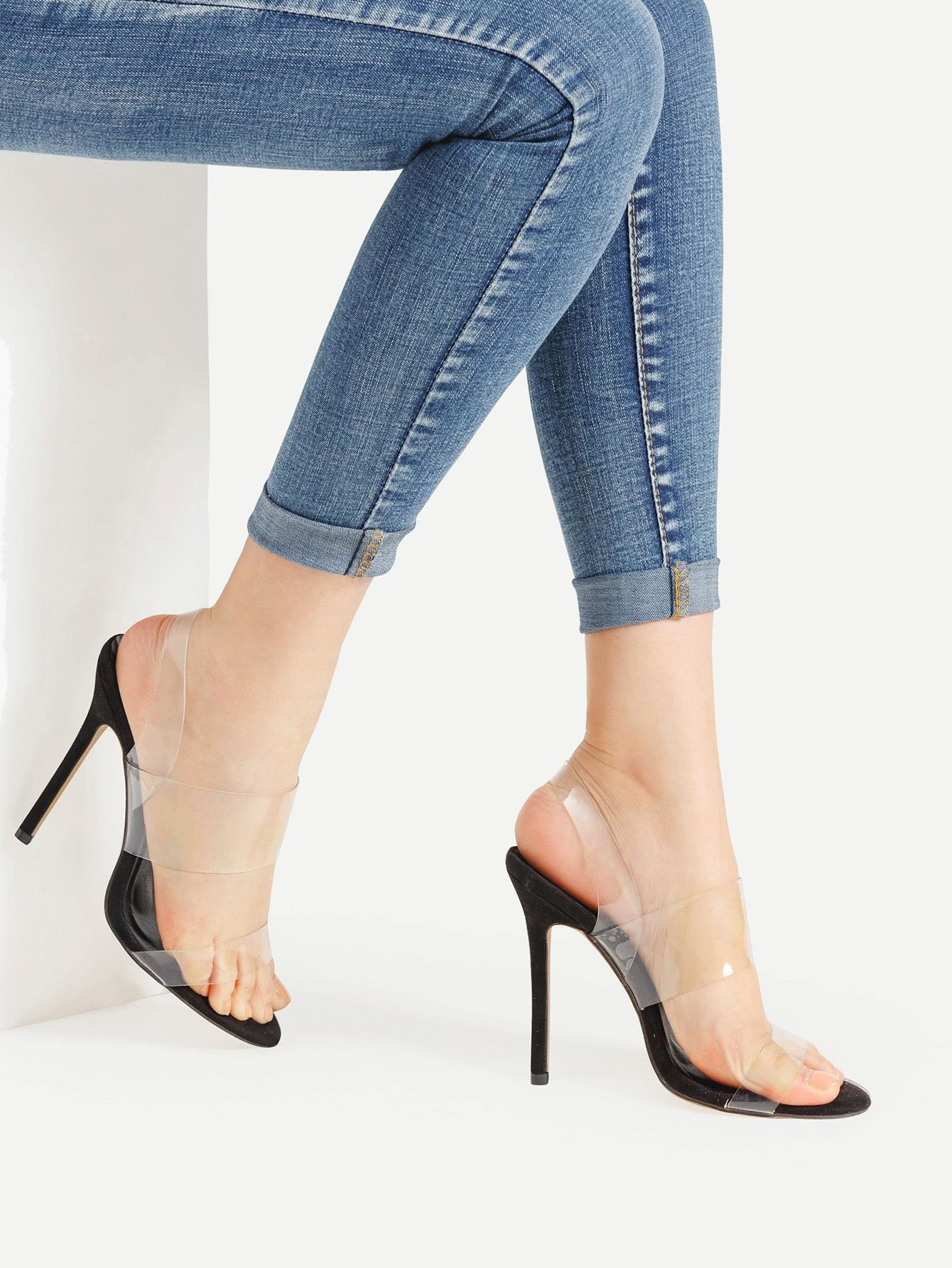 Фото Clear Strap Stiletto Sandals. Купить с доставкой