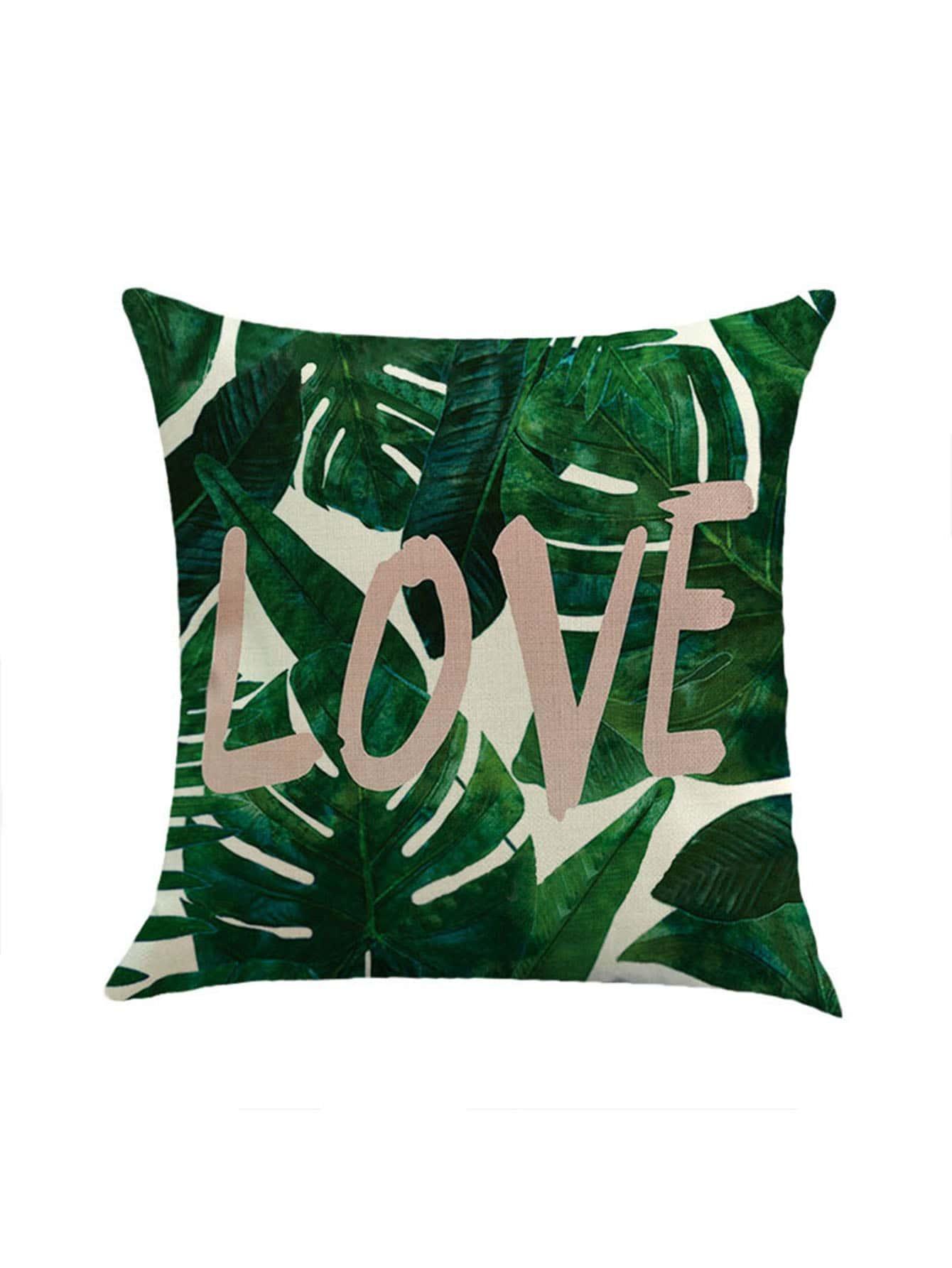 Фото Jungle & Love Print Pillowcase Cover. Купить с доставкой