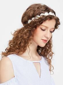 Ghirlanda di capelli a forma di daisy