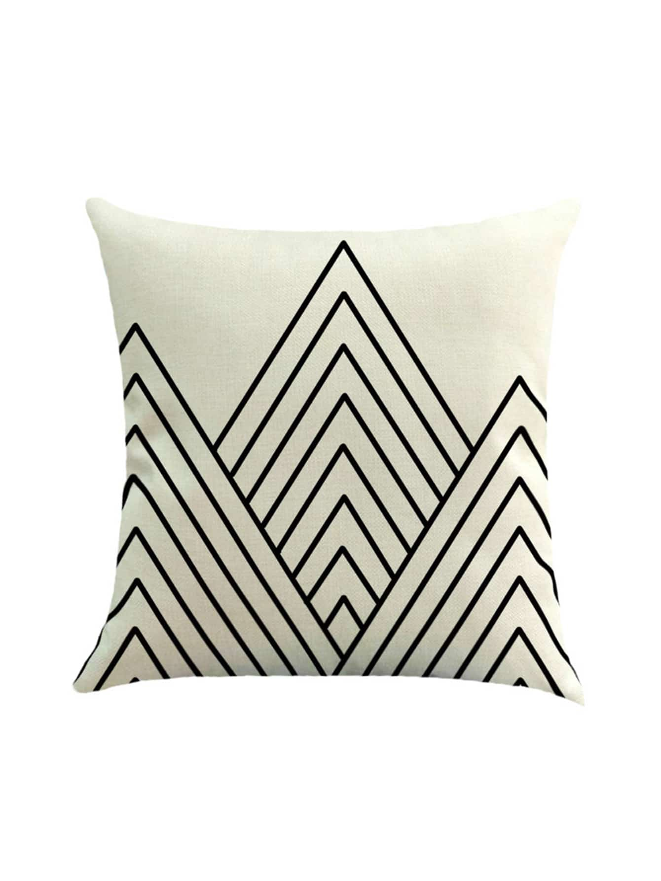 Фото Chevron Striped Print Cushion Cover. Купить с доставкой