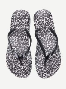 Chanclas con estampado de leopardo