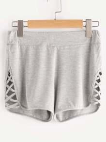 Shorts avec croix sur les bandes latérales - gris