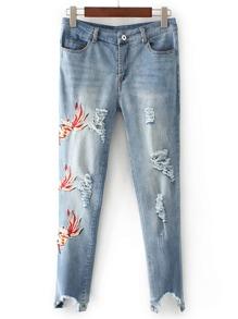 Débardeur Détaché Raw Hem Skinny Jeans