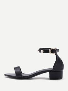 Sandalias de PU con diseño de perla de imitación