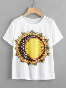 T-Shirt mit Mandalamuster
