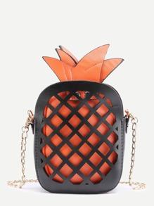 Cale à ananas Hollow Out Crossbody Bag