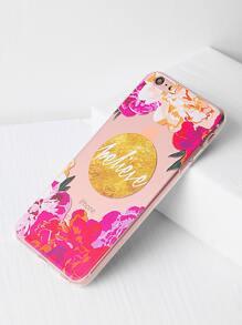 Funda para iPhone 6 Plus/6s Plus transparente con estampado de flor