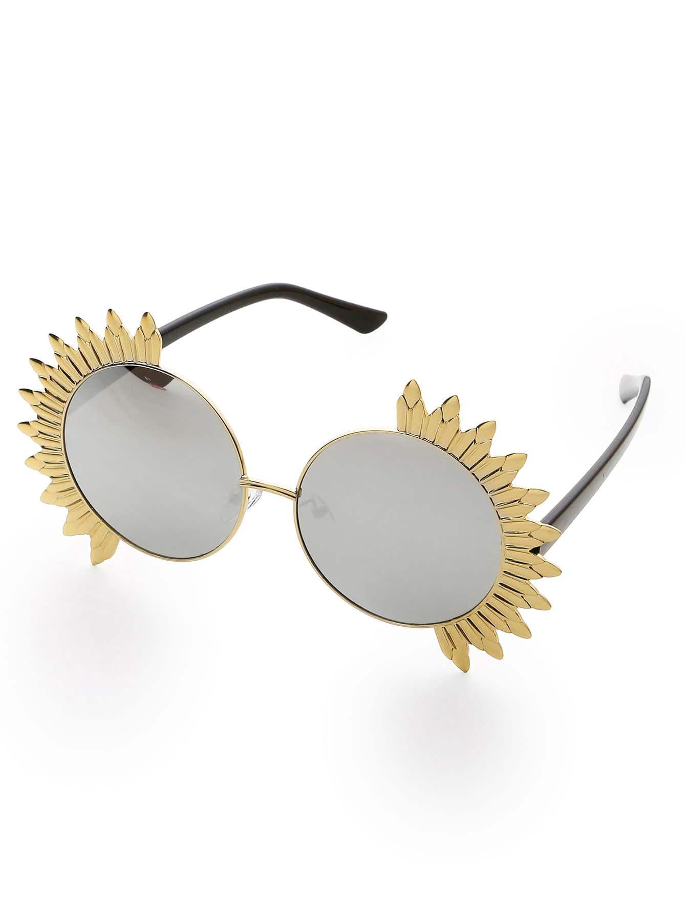 Фото Exaggerated Trim Round Sunglasses. Купить с доставкой