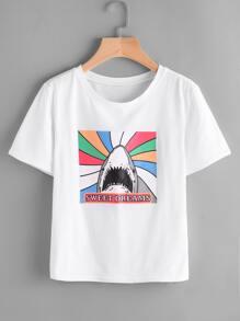 Shark Print Tee