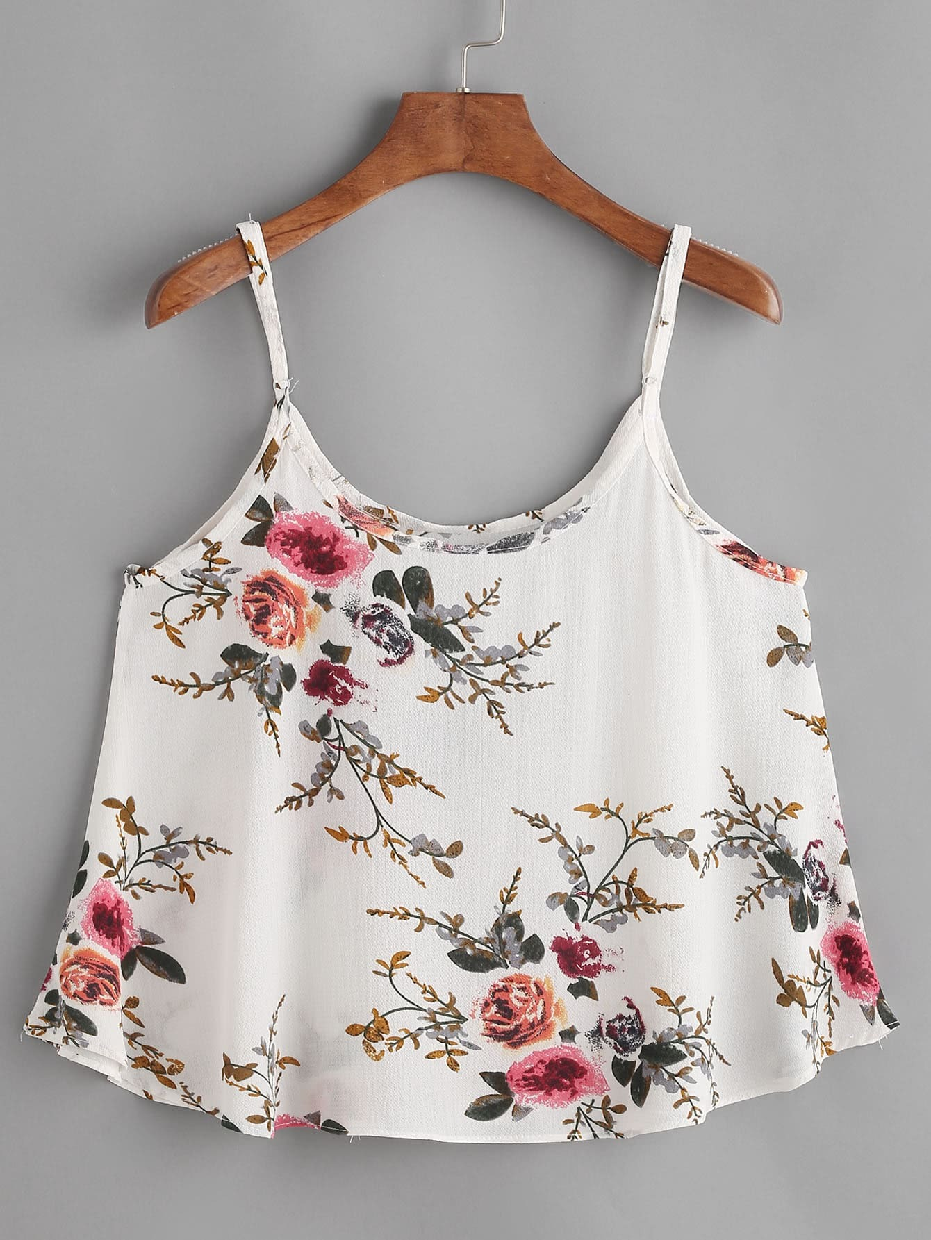 Фото Floral Print Swing Cami Top. Купить с доставкой