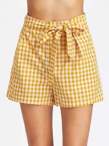 Shorts con pernera ancha con cordón