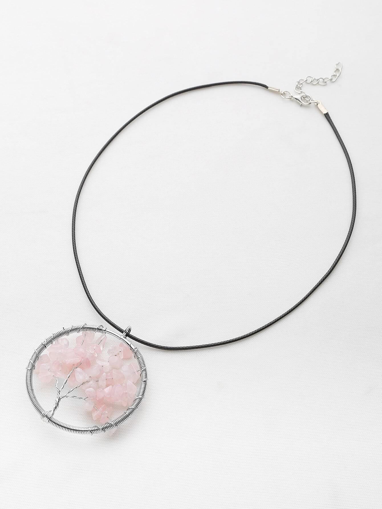 Фото Stone Life Tree Pendant Necklace. Купить с доставкой