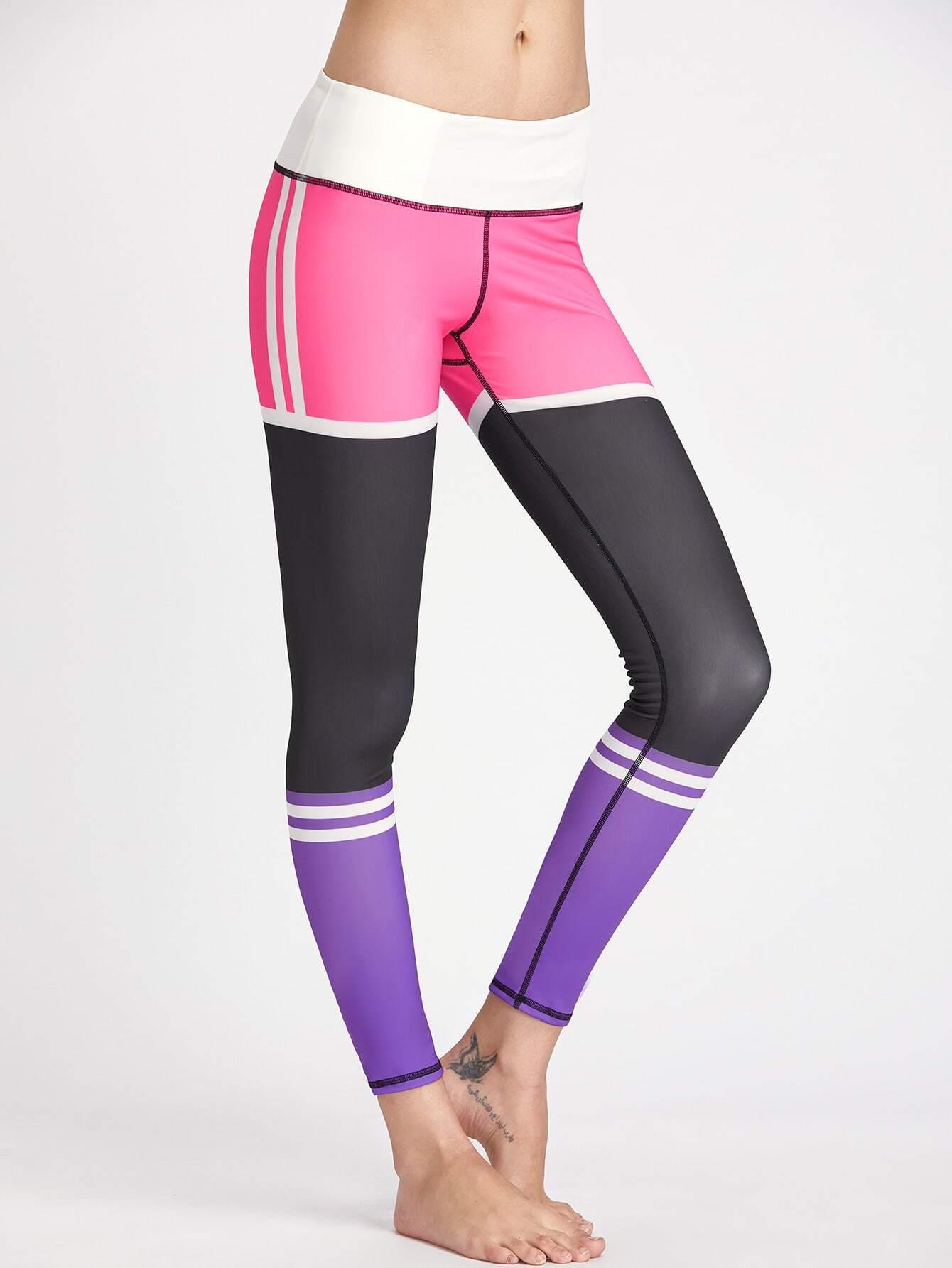 Фото Active Color Block Gym Leggings. Купить с доставкой