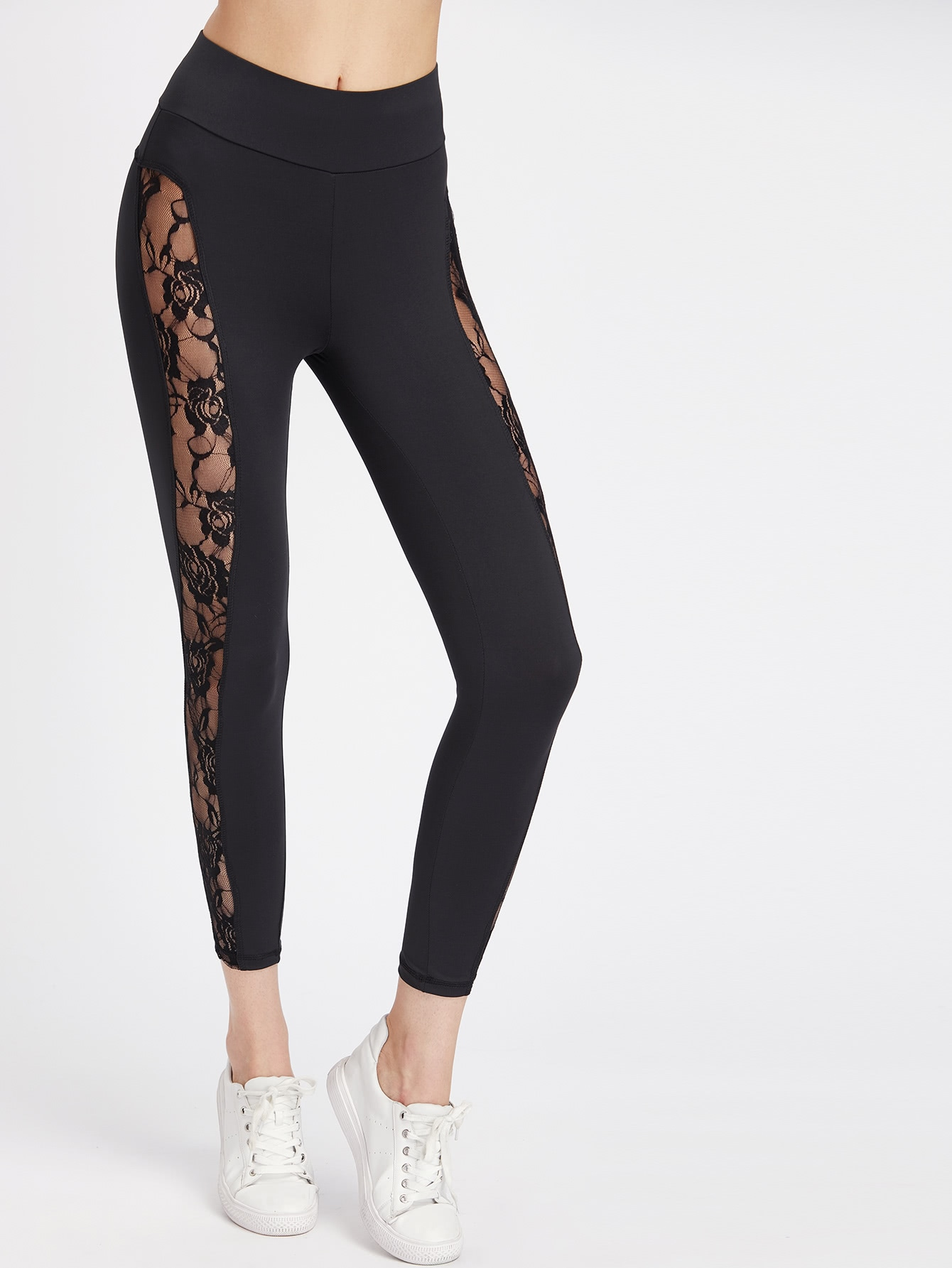 Lace Insert Leggings серьги polina selezneva серьги ps by polina selezneva