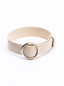 Ring Detail Buckle Choker