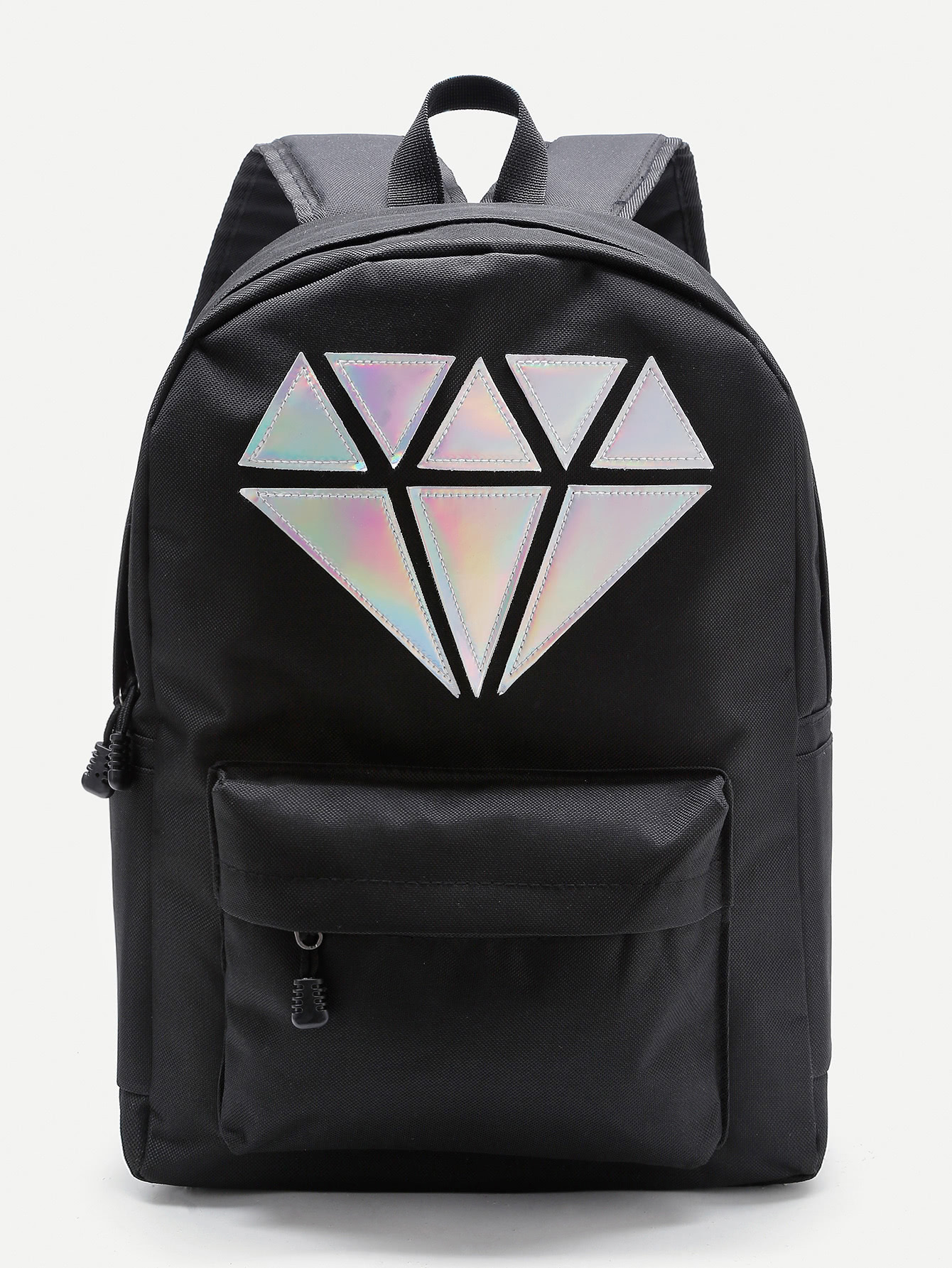 Metallic Diamond Patch Pocket Front Backpack 6 pcs semi metallic motorcycle front
