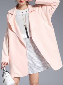 Lapel Pockets Loose Short coat