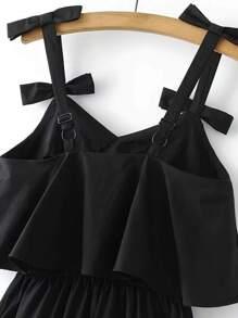 open back cami dress with bow detail sheinsheinside