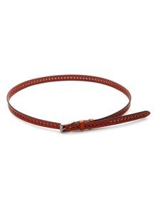 Cinturón de cuero sintético con abertura a láser