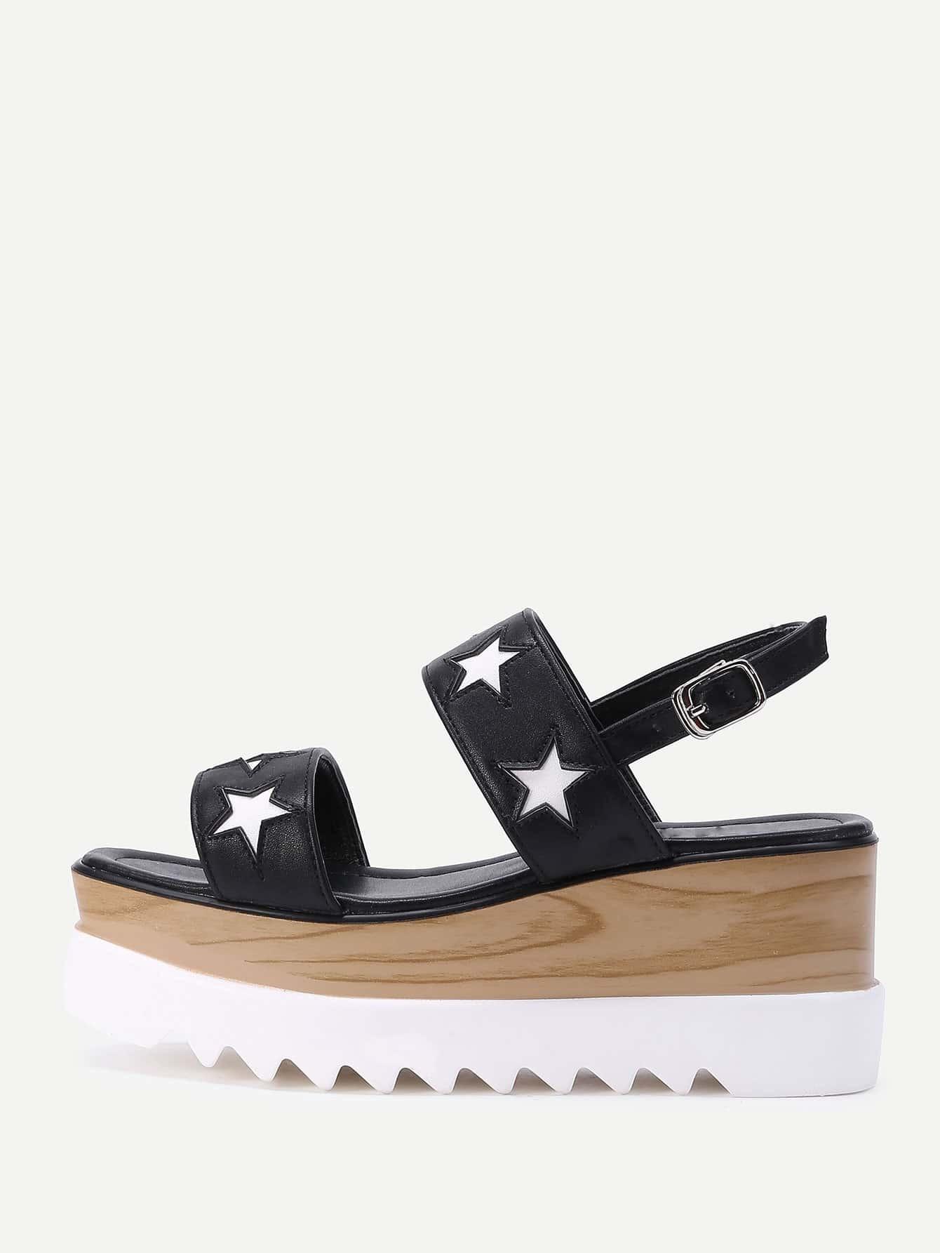 Фото Star Design PU Wedge Sandals. Купить с доставкой