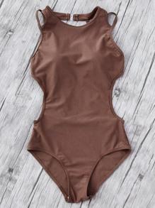 Side Cutout Strappy Back Monokini