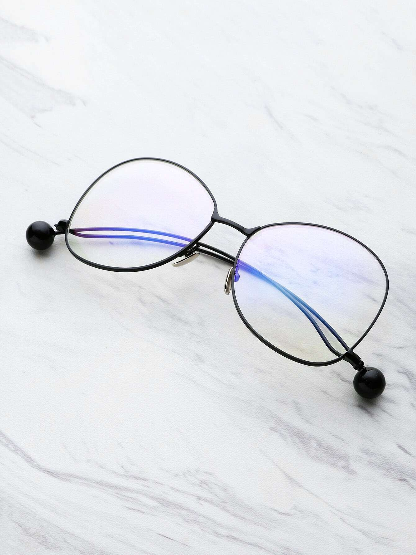 Фото Ball Detail Curved Frame Eyeglasses. Купить с доставкой