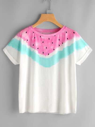 Camiseta con estampado de sandía