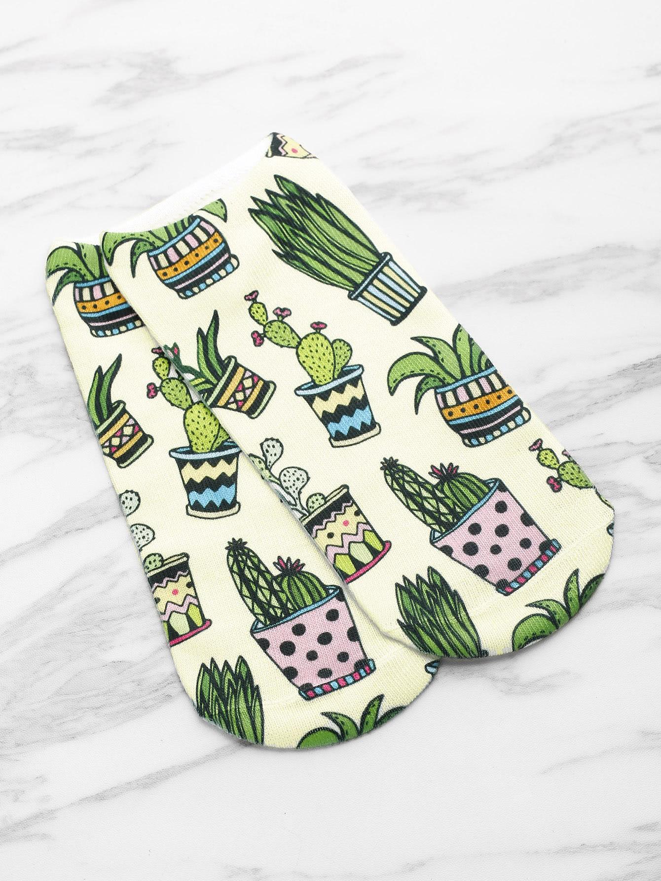 Фото Cactus Print Invisible Socks. Купить с доставкой