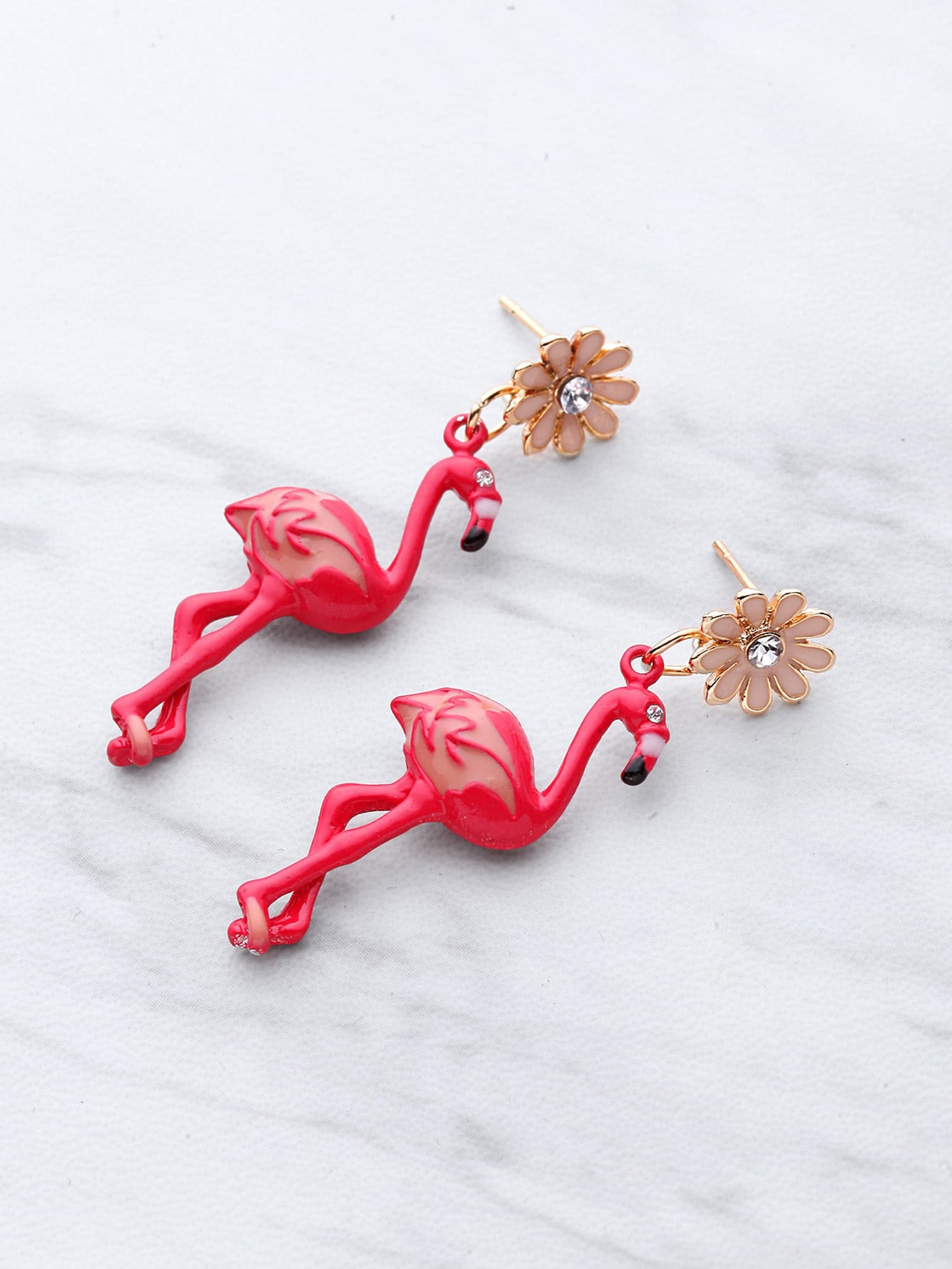 Фото Flamingo Shaped Stud Earrings. Купить с доставкой