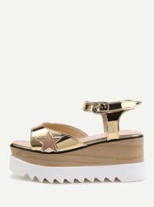 Sandales à motif des étoiles