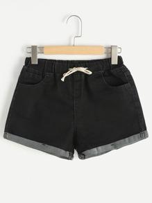 Pantaloncini con risvolto