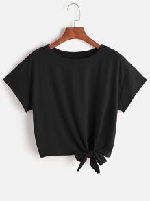 Shirt mit Front Knoten