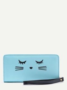 Cat Face Cute Wristlet