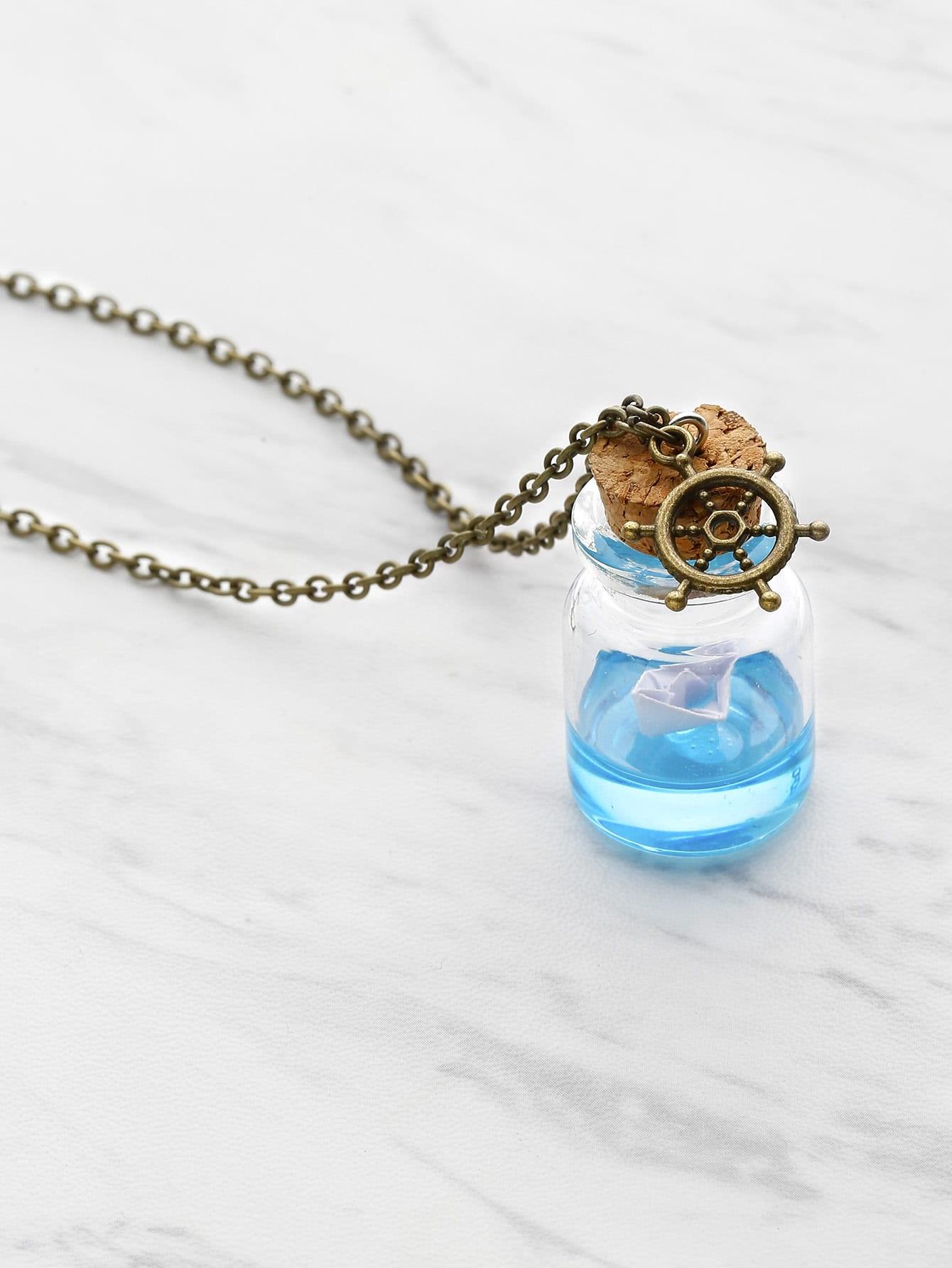Фото Drifting Bottle Chain Necklace. Купить с доставкой