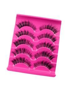 Natural False Eyelashes Set 5 Pair SHEIN