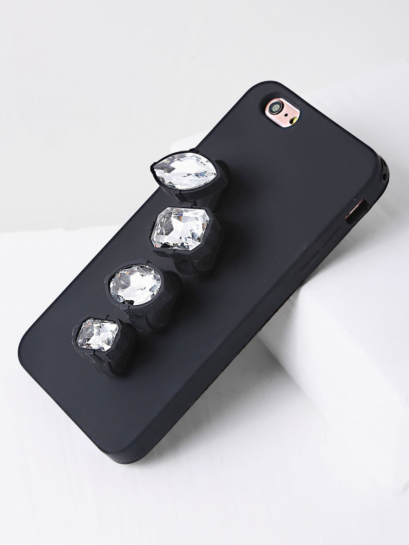 Rhinestone finger ring iphone 6 plus 6s plus case shein for Ring case
