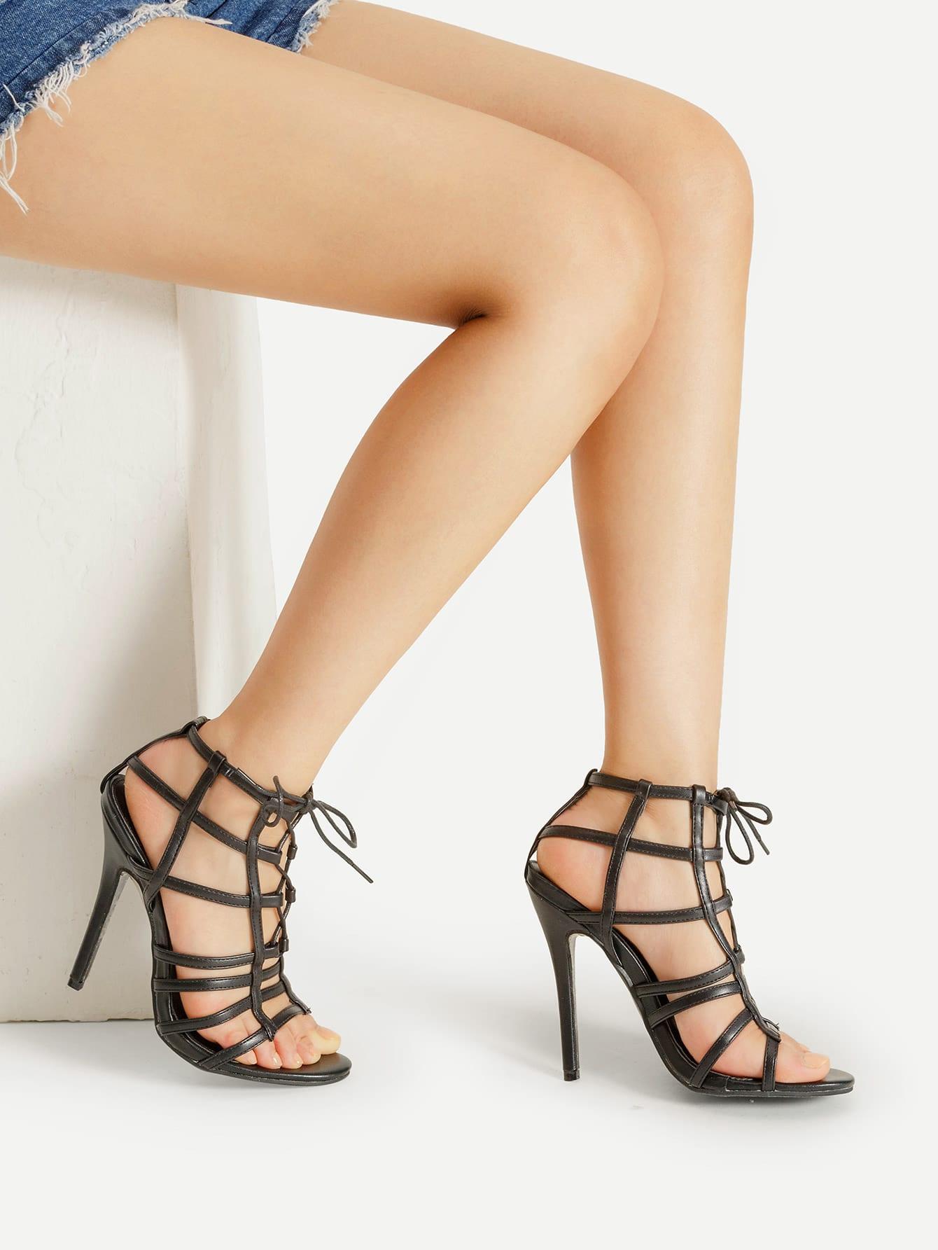 Фото Caged Design Stiletto Sandals. Купить с доставкой