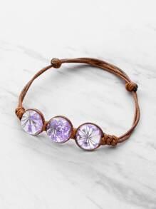 Bracelet en noueux en verre