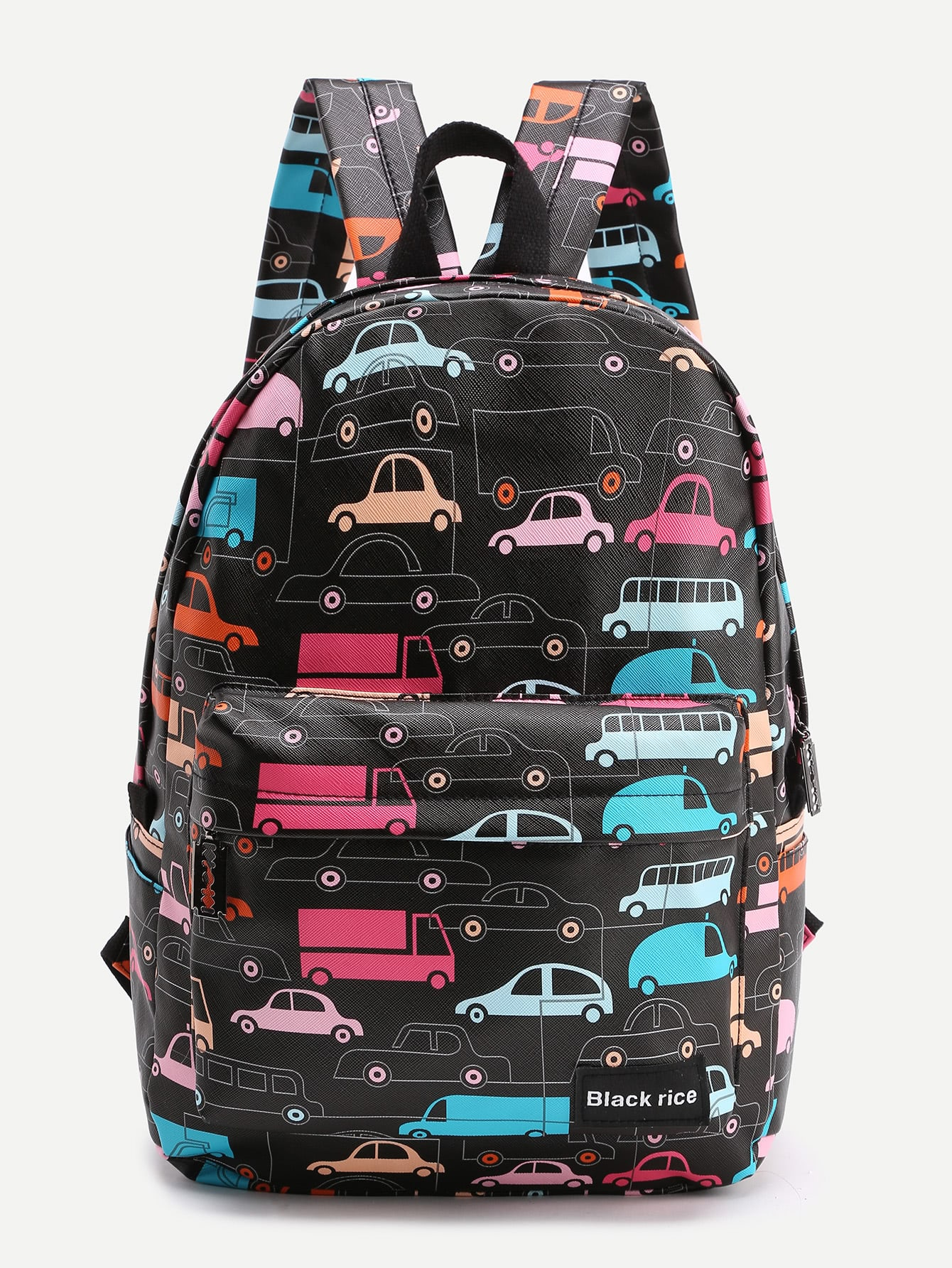 Фото Car Print Pocket Front Backpack. Купить с доставкой