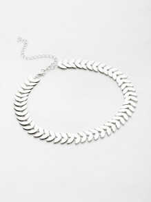 Leaf Shaped Chain Choker