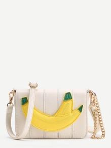 Bandolera con parche de plátano con cadena