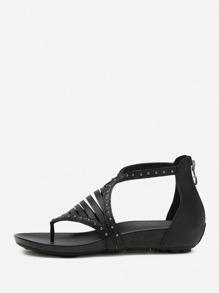 Sandales de pointes à bout pointu