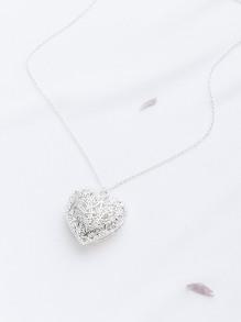 Hohle heraus Herz-hängende Halskette