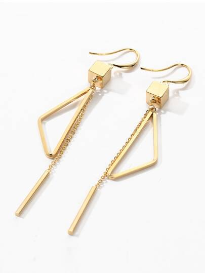 Triangle Chain Dangle Earrings