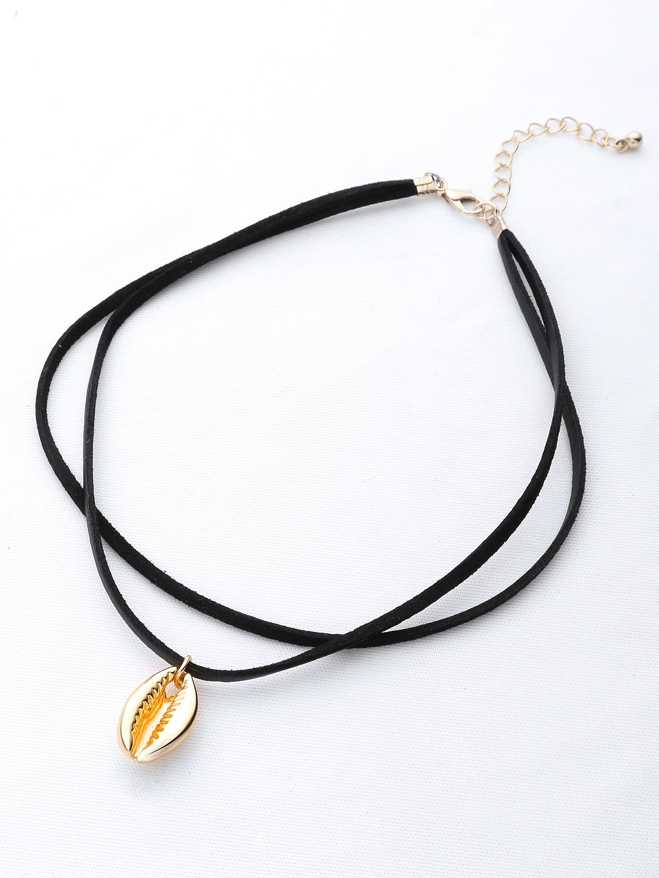 Фото Shell Pendant Double Layer Necklace. Купить с доставкой