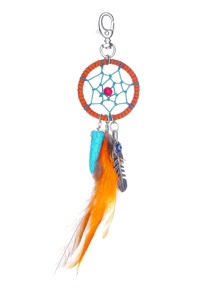 Dreamcatcher et plume Drop Keychain