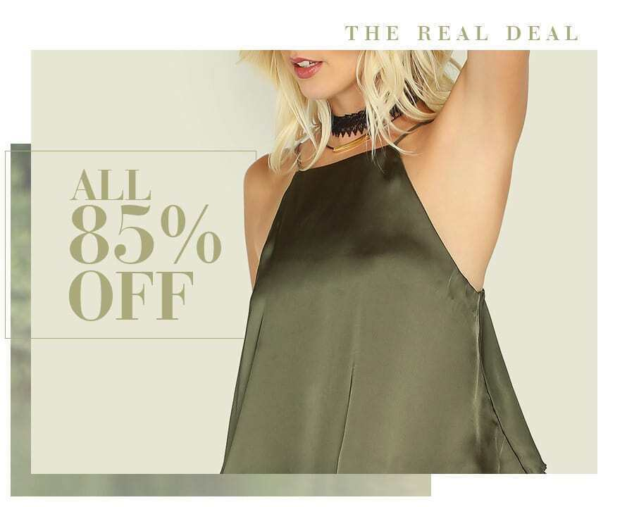 The Real Deal All 85% Off