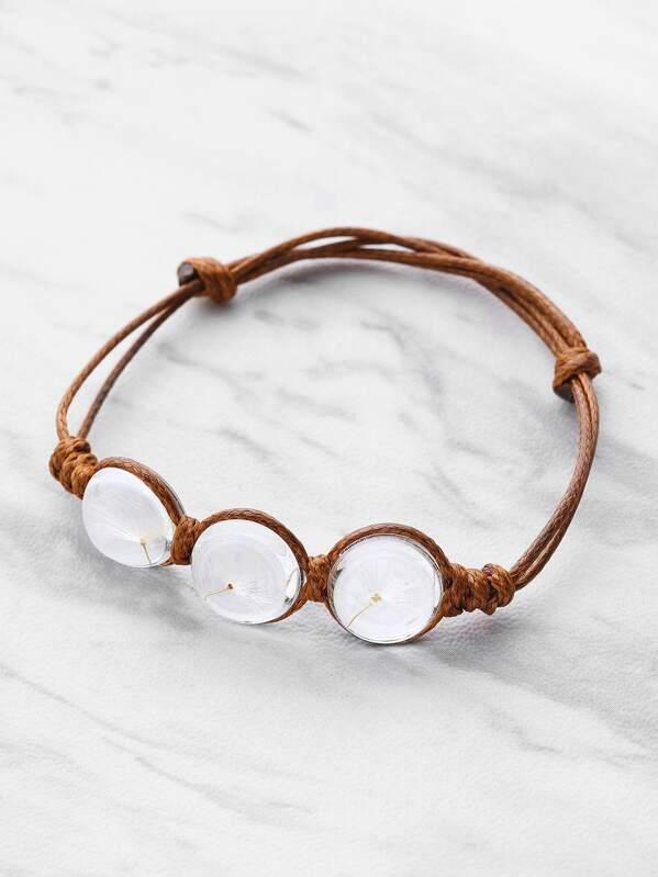 Glass Flower Detail Knot Bracelet, null